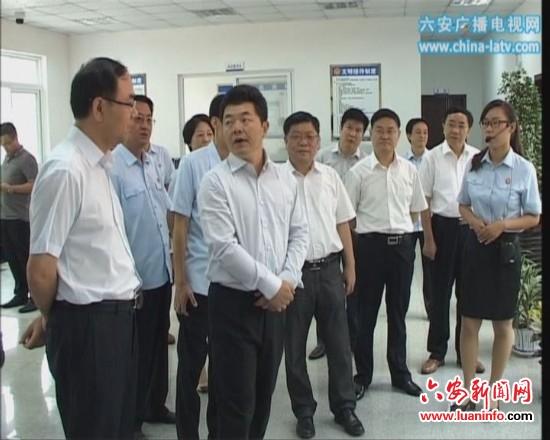 最高人民法院党组成员、政治部主任徐家新到裕安视察