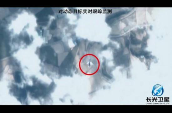 """""""卫星实时跟踪航班""""视频就是由吉林一号卫星拍摄的"""