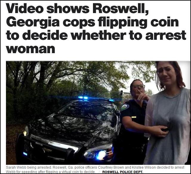 开罚单还是抓人?美国警察决定抛一下硬币