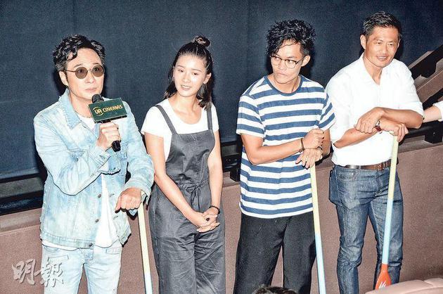 吴镇宇(左起)、余香凝、胡子彤与黄德斌开心参演的电影《逆流大叔》有好口碑。