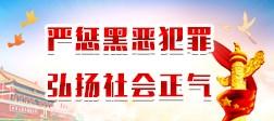 嚴懲(cheng)黑惡犯罪(zui) 弘揚社會正氣